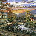 Autumn Barn by John Zaccheo