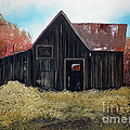 Autumn - Barn -orange by Jan Dappen