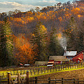 Autumn - Barn - The End Of A Season by Mike Savad