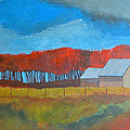 Autumn Barns by Rhodes Rumsey