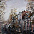 Autumn Came To The City. by Aleksandr Starodubov