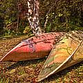Autumn Canoes by Debra and Dave Vanderlaan