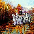 Autumn Carriage by Inna Montano