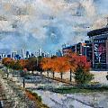 Autumn Chicago White Sox Us Cellular Field Mixed Media 03 by Thomas Woolworth