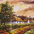 Autumn Cottages by Dariusz Orszulik