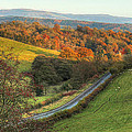 Autumn Country Lanes In England by Sarah Broadmeadow-Thomas