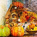 Autumn Display - Pumpkins On A Porch by Marie Jamieson