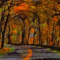 Autumn Drive Freedom And Beauty by Dan Sproul
