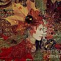 Autumn Dryad Collage by Maureen Tillman