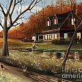 Autumn Farm by David  Rhodes