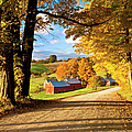 Autumn Farm In Vermont by Brian Jannsen