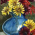 Autumn Flowers by Linda L Martin