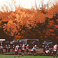 Autumn Football With Cutout Effect by Frank Romeo