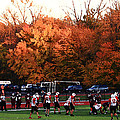 Autumn Football With Dry Brush Effect by Frank Romeo