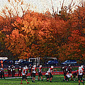 Autumn Football With Sponge Painting Effect by Frank Romeo