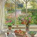 Autumn Fruit And Flowers by Timothy  Easton