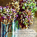 Autumn Hydrangeas Photoart With Verse by Debbie Portwood