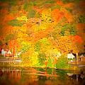 Autumn In Collinsville Connecticut  by Rebecca Malo