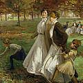 Autumn In Kensington Gardens by James Wallace