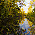 Autumn In Morrisville Pa Along The Delaware Canal by Bill Cannon