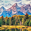 Autumn In The Tetons by Dominic Piperata