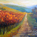Autumn In The Vineyard by Carolyn Jarvis