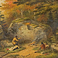 Autumn In West Canada Chippeway Indians by Cornelius Krieghoff