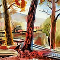 Autumn Jon Boats I by Kip DeVore