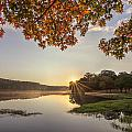 Autumn Lake Sunrise In East Texas by Todd Aaron
