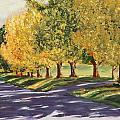 Autumn Lane by Alan Mager