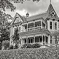 Autumn Mansion Bw by Steve Harrington