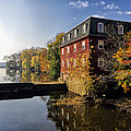 Autumn Morning At The Kingston Mill by George Oze