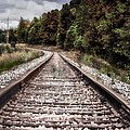 Autumn On The Railroad Tracks by Thomas Woolworth