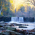 Autumn On The Wissahickon Waterfall by Bill Cannon