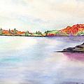 Autumn Pond by Daniel Dubinsky