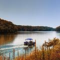 Autumn Pontoon Boating Argyle Lake by Thomas Woolworth