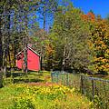 Autumn Red Barn by Joann Vitali