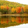 Autumn Reflection Panoramic View by Vicki Spindler