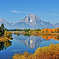 Autumn Reflections At Oxbow Bend by Greg Norrell