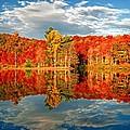 Autumn Reflections At Sherando Lake by Lynn Bauer