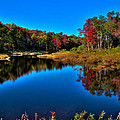 Autumn Reflections In The Adirondacks by David Patterson