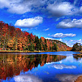 Autumn Reflections On Bald Mountain Pond by David Patterson