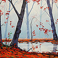 Autumn River Painting by Graham Gercken