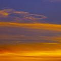 Autumn Sky Landscape by Gillian Dernie