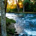 Autumn Sunset On Crabtree Creek by Elaine Goss