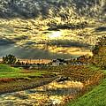 Autumn Sunset Reflection by Jim Lepard