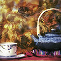 Autumn Tea Party - Fall - Teapot by Jason Politte