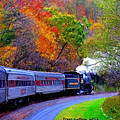 Autumn Train by Bruce Nutting