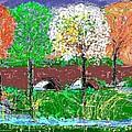 Autumn Trees by Alberto Lacoius-Petruccelli