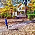 Autumn - Walking The Dog by Susan Savad
